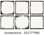 grunge frame.grunge background... | Shutterstock .eps vector #351777980