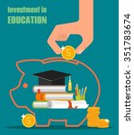 invest in education concept.... | Shutterstock .eps vector #351783674