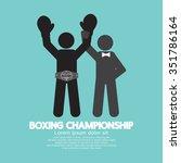 black symbol boxing... | Shutterstock .eps vector #351786164