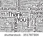 thank you word cloud background ... | Shutterstock . vector #351787304