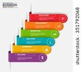 abstract 3d digital business... | Shutterstock .eps vector #351792068