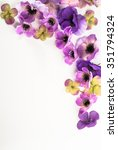floral frame with beautiful... | Shutterstock . vector #351794324