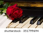 red rose with notes paper on...   Shutterstock . vector #351799694