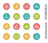 travel web icons set | Shutterstock .eps vector #351803813
