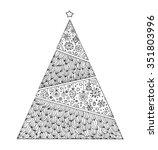 christmas tree. vintage card.... | Shutterstock .eps vector #351803996