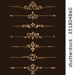 vintage set of decorative... | Shutterstock .eps vector #351804860