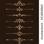 vintage set of decorative... | Shutterstock .eps vector #351804860
