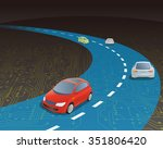 road and vehicles on electric... | Shutterstock .eps vector #351806420