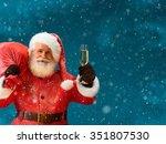 Santa Claus Carrying Big Bag...