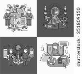 concept of partnership... | Shutterstock . vector #351809150