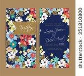 wedding invitation card or... | Shutterstock .eps vector #351810800