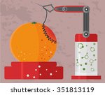 gmo concept of genetically...   Shutterstock .eps vector #351813119