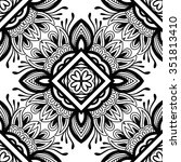 black and white decorative... | Shutterstock .eps vector #351813410
