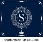 premium silver frame. elegant...   Shutterstock .eps vector #351813608