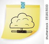 cloud doodle | Shutterstock .eps vector #351815033