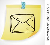 mail doodle | Shutterstock .eps vector #351815720