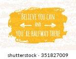 creative typographic poster... | Shutterstock .eps vector #351827009