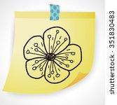 flower doodle | Shutterstock .eps vector #351830483