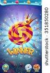 sweet world mobile game user...   Shutterstock .eps vector #351850280