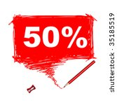 vector   illustration of a red... | Shutterstock .eps vector #35185519