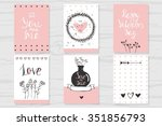 hand drawn romantic collection... | Shutterstock .eps vector #351856793