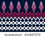 geometric ethnic pattern design ... | Shutterstock .eps vector #351857570