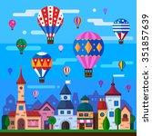 european village celebration ...   Shutterstock .eps vector #351857639