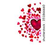 bright heart  holiday vector... | Shutterstock .eps vector #351866660