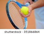 tennis ball and racket | Shutterstock . vector #351866864