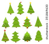 pine tree set | Shutterstock .eps vector #351869630