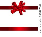 gift card with red bow and... | Shutterstock . vector #351877544