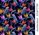 seamless pattern with cute... | Shutterstock . vector #351877700