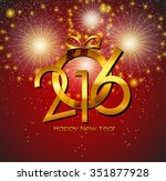 2016 new year background.... | Shutterstock . vector #351877928