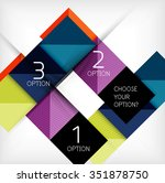 paper style design templates ... | Shutterstock .eps vector #351878750