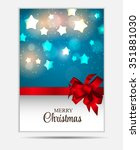 christmas website banner and... | Shutterstock . vector #351881030
