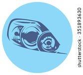 vector illustration of a car... | Shutterstock .eps vector #351893630