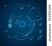 sci fi futuristic user... | Shutterstock .eps vector #351901340