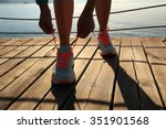 young fitness woman runner... | Shutterstock . vector #351901568