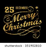 christmas gold greeting card... | Shutterstock .eps vector #351902810