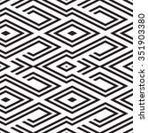 black and white geometric... | Shutterstock .eps vector #351903380