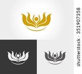 lotus flower logo | Shutterstock .eps vector #351907358