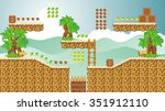 tile set platform for game ... | Shutterstock .eps vector #351912110