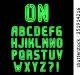 double neon font part 1 of 2 ... | Shutterstock .eps vector #351914216