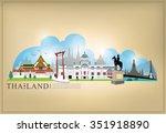 vector landmark of bangkok ... | Shutterstock .eps vector #351918890