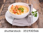 shrimp with curry and coconut... | Shutterstock . vector #351930566