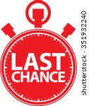 last chance stopwatch icon ... | Shutterstock .eps vector #351932240