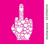 middle finger vector icon made... | Shutterstock .eps vector #351940214