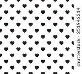 monochrome seamless pattern... | Shutterstock .eps vector #351943214