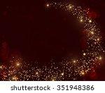 Gold Glitter Texture On Dark...