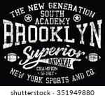 brooklyn sport superior vector... | Shutterstock .eps vector #351949880